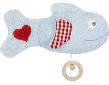 Baby Spieluhr Fisch aus Bio Baumwolle
