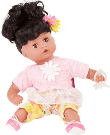 Dunkelhäutige Puppe Götz Muffin - Weichpuppe 33cm