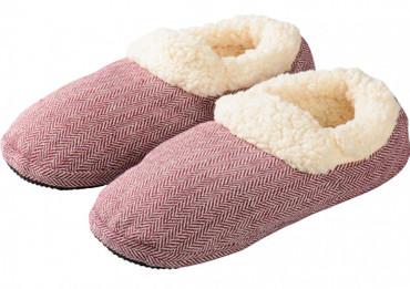 Mikrowellenschuhe gegen kalte Füße rot - M
