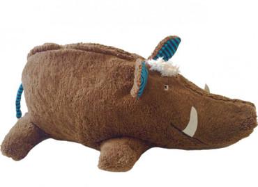 Bio Tierkissen Wildschwein mit Hirsespelzkissen-Inlett – Bild 1