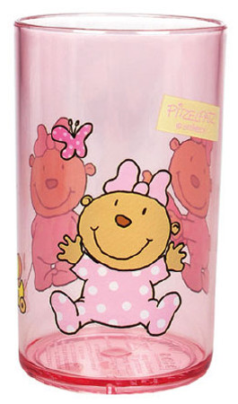 Kinder Trinkglas rosa