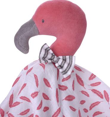 Kikadu Baby Schmusetuch Organic, Flamingo pink  – Bild 2