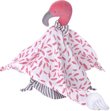Kikadu Baby Schmusetuch Organic, Flamingo pink
