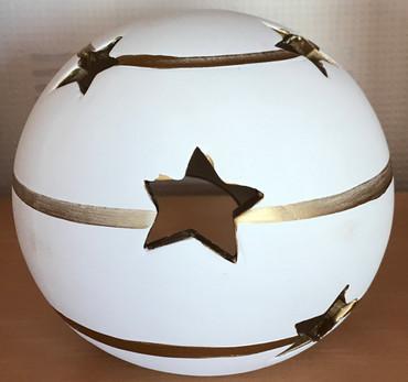 Teelichthalter Kugel mit Sternen