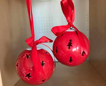 Weihnachtskugeln rot im 2er Set
