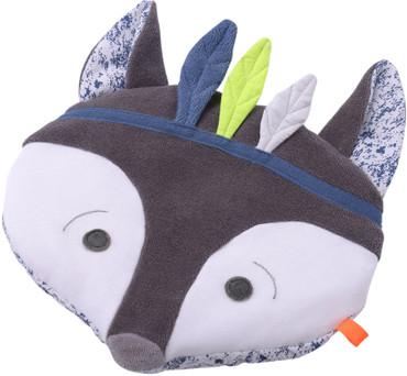 Dinkel Roggenkissen Fuchs grau/blau von Kikadu