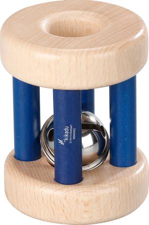 Glockenrolle aus Holz Natur-Blau  | Kikadu Organic