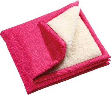 Krabbeldecke Mädchen Wolle/Baumwolle kbA | pink-rosa – Bild 1