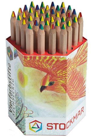 Vierfarbstift Buntstift sechseckig | Stockmar