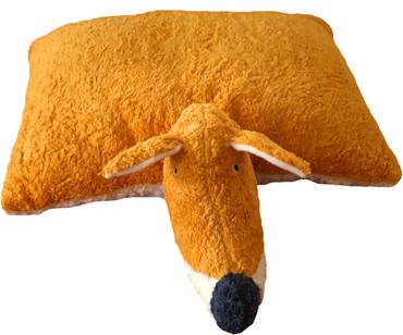 Kuscheltier Fuchs Kissen 2in1 orange/natur – Bild 2