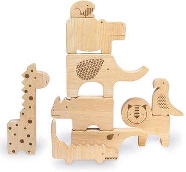 Safari Holztiere und Puzzle in einem | petitcollage