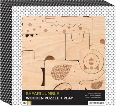 Safari Holztiere und Puzzle in einem | petitcollage – Bild 2