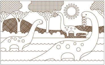 Kinder Malbuch Dinosaurier ab 3 | petitcollage – Bild 2