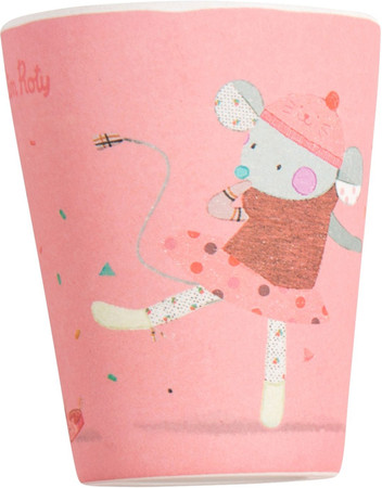 Kinder Bambus Becher rosa | Moulin Roty
