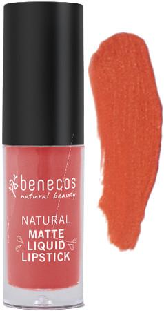 Benecos Liquid Lipstick matt coral kiss 5ml