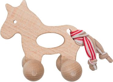 Holzgreifling Pony mit Rollen | Efie
