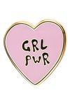 "likalla Herz Pin ""GRL PWR"", rosa/schwarz 001"