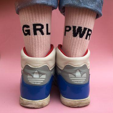 GRL PWR Socken in rosa – Bild 1