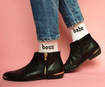 boss babe Socken in weiß 001