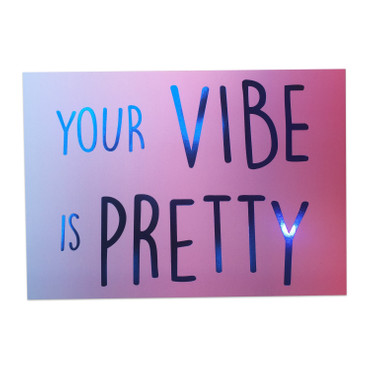 "Postkarte ""your vibe is pretty"""