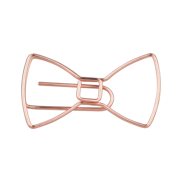 Schleifen Büroklammern in roségold - 5er Pack – Bild 1