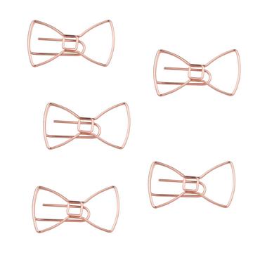Schleifen Büroklammern in roségold - 5er Pack – Bild 2