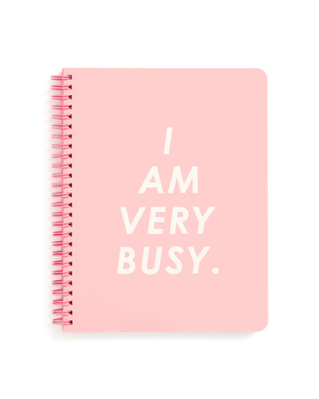 "BAN.DO Notizbuch ""I AM VERY BUSY"" mit Spiralbindung, rosa – Bild 1"