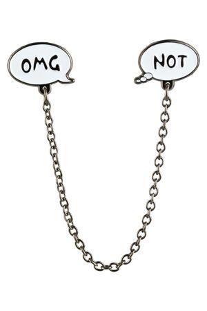 "likalla Sprechblasen Pin Set ""OMG-NOT"" mit Kette"