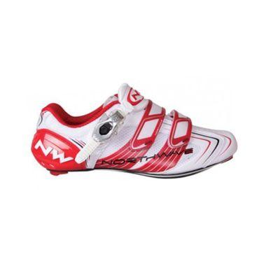 Schuhe Northwave Evolution SBS Road 2012/13 white/red Gr.45