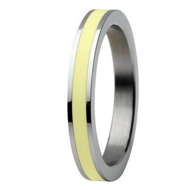 Skagen Damen Ring Silber/Gelb JRSY036, Ringgröße:56 (17.8) SS8 M28