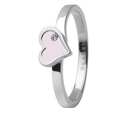 Skagen Damen Ring Reflection Heart Silber JRSP035, Ringgröße:57 (18.1) SS8 M22