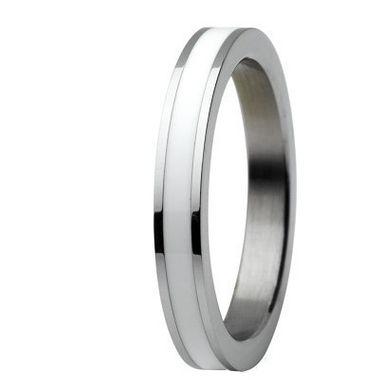 Skagen Damen Ring Silber/Weiß JRSW036, Ringgröße:51 (16.2) SS6 M13