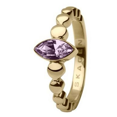 Skagen Damen Ring Gold JRSG005, Ringgröße:54 (17.2) SS7 M43