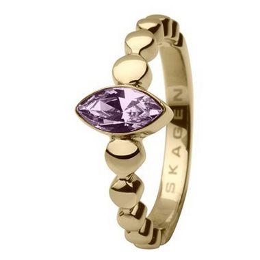 Skagen Damen Ring Gold JRSG005, Ringgröße:52 (16.6) SS6 M43