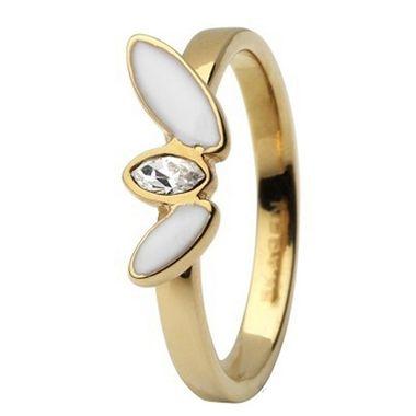 Skagen Damen Ring Gold/Weiß JRSG029, Ringgröße:49 (15.7) SS5 M34