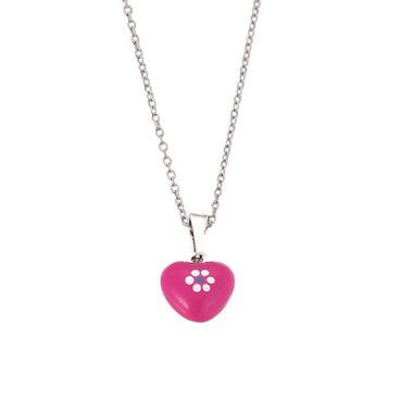 Scout Kinder Halskette Kette Silber Herz rosa Girls Mädchen 261081200