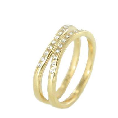 Skagen Damen Ring gold Zyrkonia JRSG027 S7 Gr. 54 (17,3)
