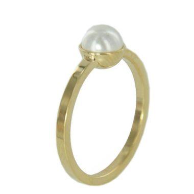 Skagen Damen Ring gold Perle weiss JRSG035 S7 Gr. 54 (17,3)