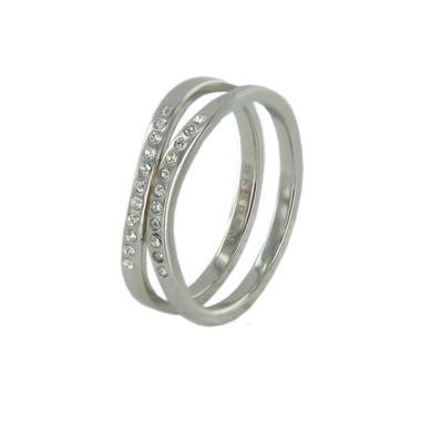 Skagen Damen Ring silber Zyrkonia JRSS027