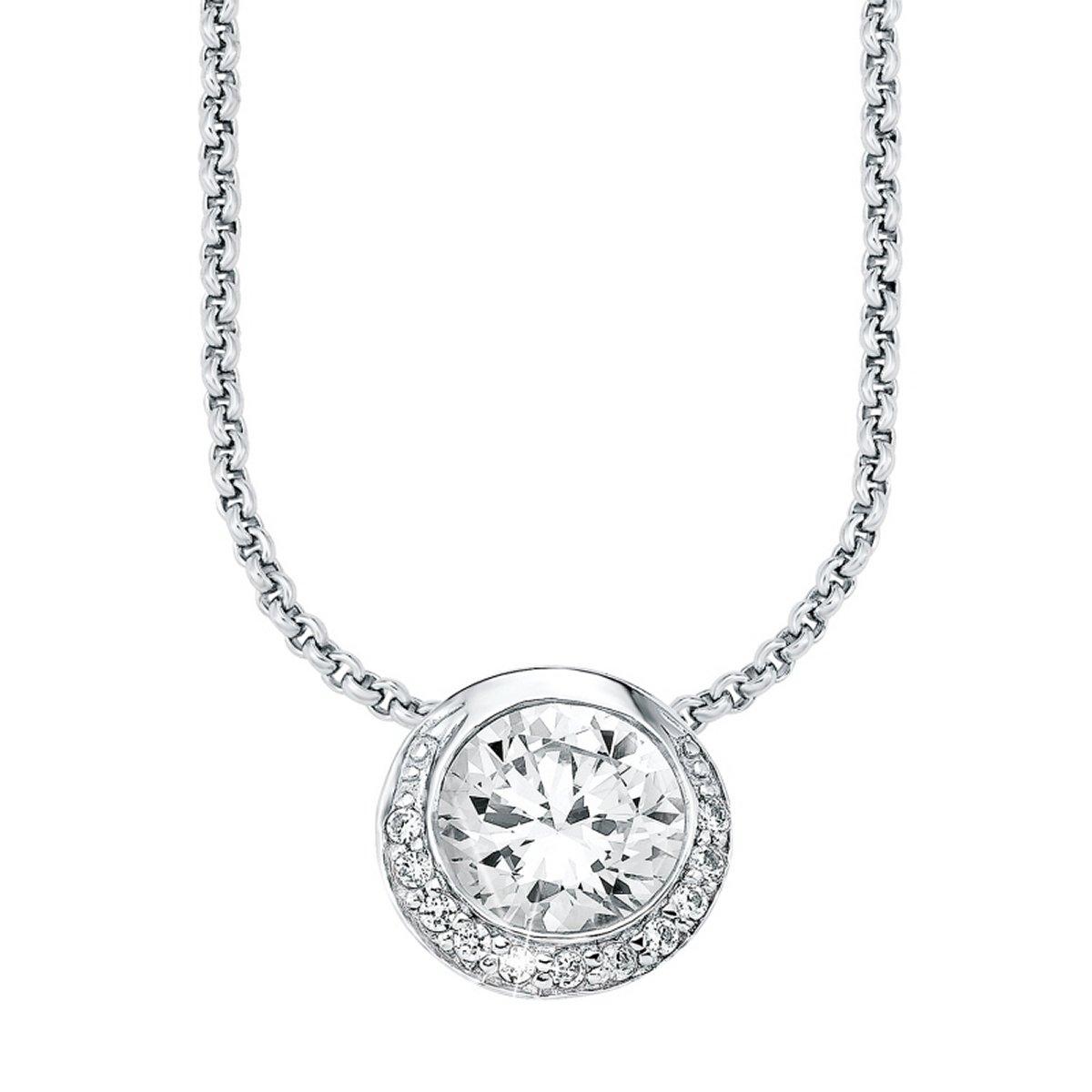 s.Oliver Jewel Damen Halskette Collier Silber Zirkonia SO963//1-9082179