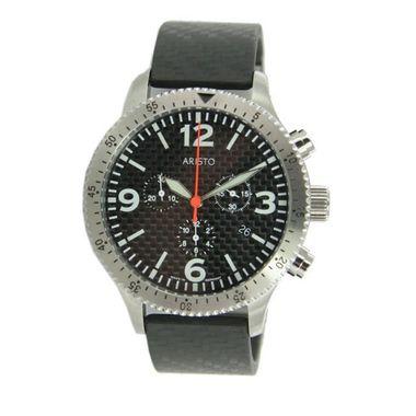 Aristo Herren Uhr Chronograph Carbon 7H76