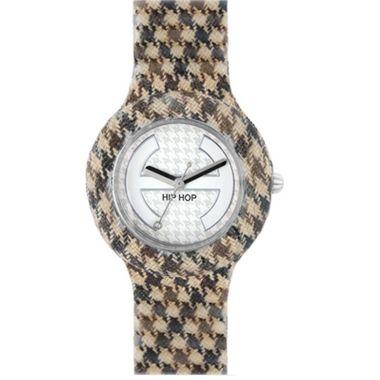 Hip Hop Uhr Silikonuhr Pied de Poule small HWU0371 marron glace
