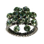 Konplott Ring Magic Fireball hell grün chrysolite