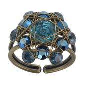 Konplott Ring Bended Lights blau