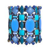 Konplott Armband Ethnic Mosaic breit  blau / grün