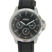 Fossil Herren Uhr Chronograph Armbanduhr schwarz Silikon BQ1291