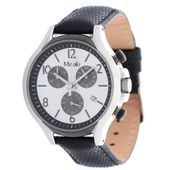 Misaki Damen Uhr Armbanduhr QCRWBETA-L Lederband schwarz