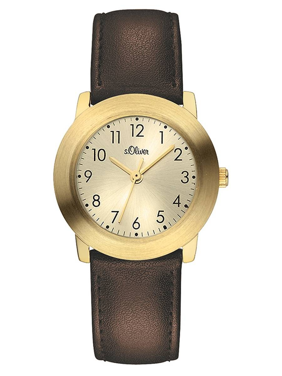 s.Oliver Damen Uhr Armbanduhr Leder SO-3441-LQ