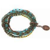 Konplott Armband Armkette Petit Glamour d' Afrique elastisch braun / grün