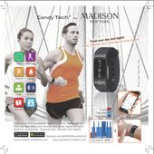 Candy Tech by Madison N.Y. Go Time Fitnessuhr / Smart Watch CT-04F gelb